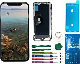 UNUS OLED Digitizer Replacement Kit for iPhone Xs Max, Comes with Tempered Glass Screen Protector and Free Tool Kits