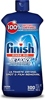 Finish Jet-Dry Rinse Aid, 32oz, Dishwasher Rinse Agent & Drying Agent 300 Washes