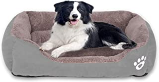 Fristone Warming Dog Beds for Medium Dogs-(XXL-Large for Large Dog), Rectangle Washable Pet Bed with Firm Breathable Cotton for Cats, Sleeping Orthopedic Beds