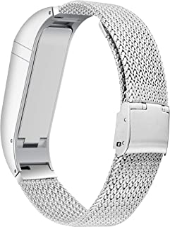 BaiHui Compatible with Fitbit Flex Band Women Men, Stylish Accessory Stainless Steel Bracelet Replacement Strap for Fitbit Flex No Tracker (Silver Small)