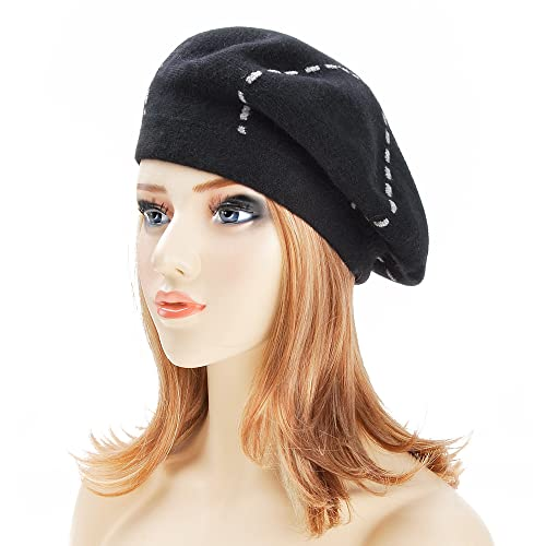9af89eaffc8af ZLYC Womens Reversible Beret Hat Double Layers French Beret