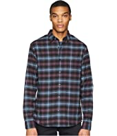 Vince - Shadow Plaid Grid Long Sleeve