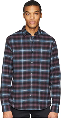 Shadow Plaid Grid Long Sleeve