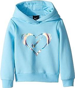 Iridescent Heart Fleece Pullover (Toddler)