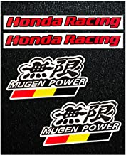 LLAP Stickers for Honda Civic Mugen Honda Racing Decals Sticker (4 Packs)