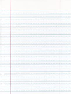 School Smart 85243 Cursive Ruled Notebook Paper with Margin - 8 in x 10 1/2 in - Ream of 500 - White