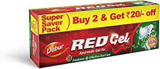Dabur Red Gel :Ayurvedic Gel for Freshness and Effective Oral Care -150gm (Pack of 2)