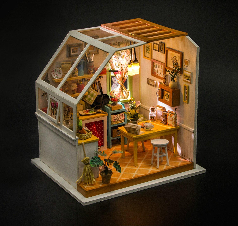 miniatura 1:12 casa de muñecas Todo para los señores