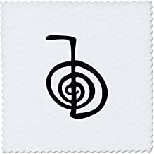 3dRose qs_154526_3 Reiki Power Symbol Cho Ku Rei Choku Rei for Protection Cleaning Clearing Energy Or Boosting Healing Quilt Square, 8 by 8-Inch