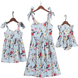 e0a1042116d Best Seller in Girls  Casual Dresses · PopReal Mommy and Me Floral Printed  Shoulder-Straps Bowknot Halter Chiffon Beach Mini Sundress