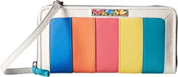 Brighton Suncatcher Color Block Zip Wallet
