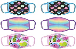 ABG Accessories Girls' Reusable Protective Fashion Face Masks (6 Pack)