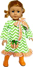 Brittany's Pumpkin Dress with Boots Compatible with American Girl Dolls- 18 Inch Fall Halloween Doll Clothes