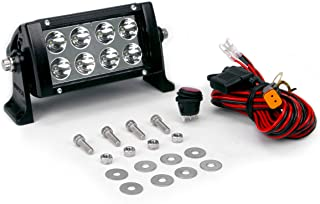 Wurton 31021 Black 10 5W 16-LED High Powered Flood Beam Light Bar with Wire Harness and Switch