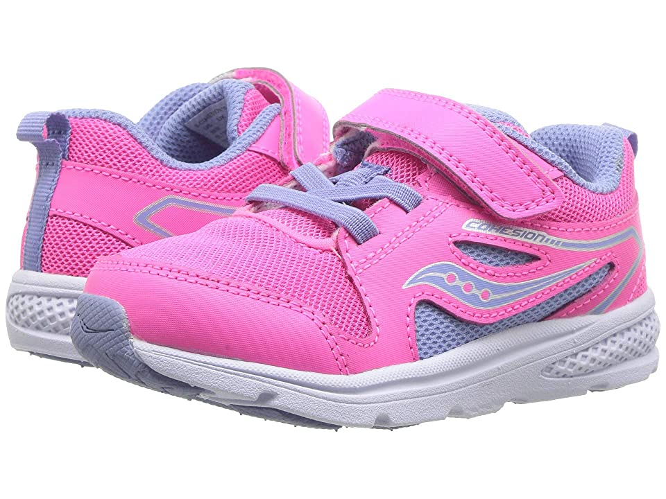 Saucony Kids Cohesion 10 Jr (Toddler/Little Kid) (Pink) Girls Shoes
