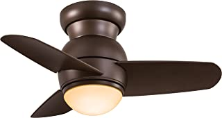 Minka-Aire F510-ORB Flush Mount, 3 Oil Rubbed Bronze Blades Ceiling fan with 30 watts light, Oil Rubbed Bronze