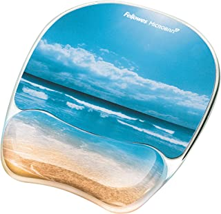 Fellowes Photo Gel Mouse Pad and Wrist Rest with Microban Protection - 9179301