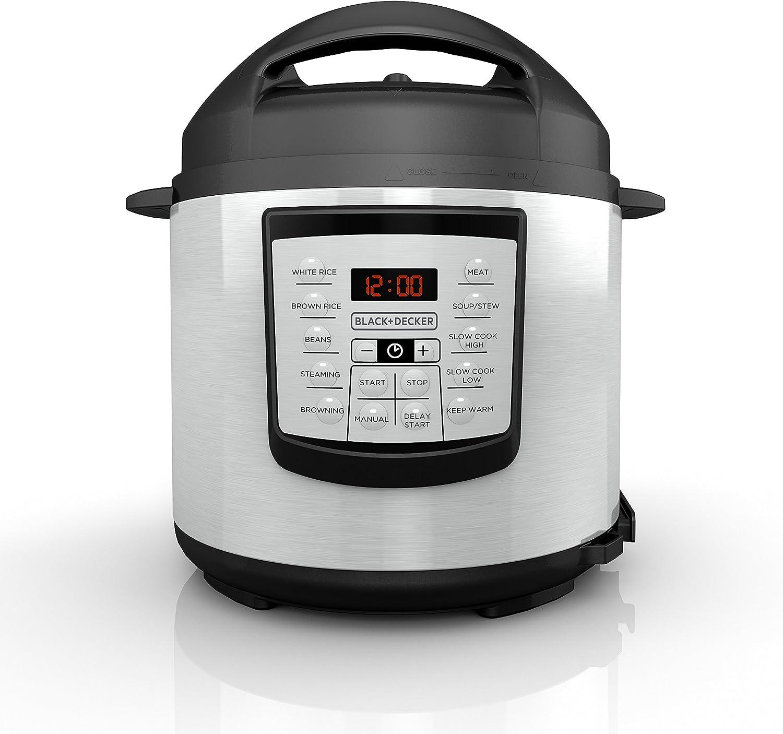 BLACK+DECKER Electric Pressure Cooker 6-Quart