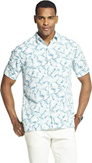 57b97f325cc04 Van Heusen Mens Air Tropical Print Short Sleeve Button Down Shirt Button  Down Shirt