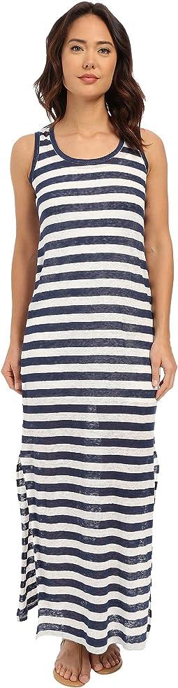 Linen Knit Stripe Maxi Dress