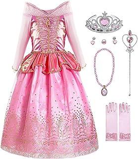 ecc0580da91ad KABETY Fille–Robe d Aurore pour Enfant Princesse Aurora Costume Robe de  soirée avec