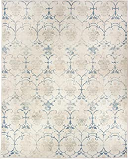 RUGGABLE Washable Stain Resistant Pet Dog Area Rug for Indoor/Outoor - Leyla Creme Vintage 8' x 10' Area Rug Set