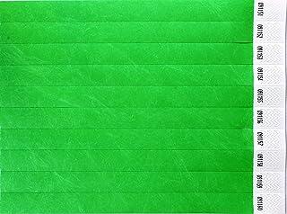 CARTALOTO-1000 Bracelets d'identification Tyvek 19mm – Néon Green, BITSNG, Multicouleur