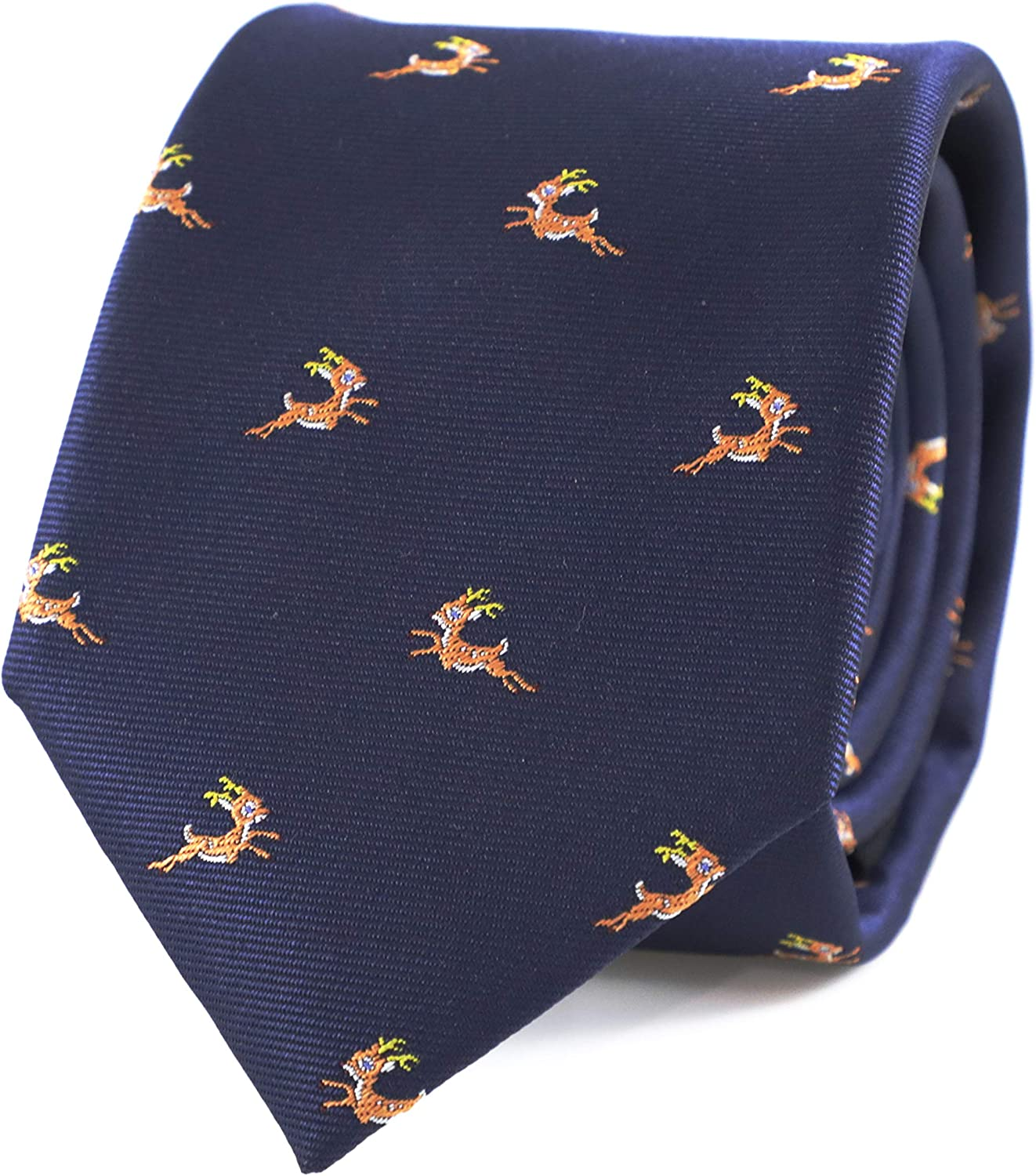 MENDEPOT Animal Pattern Necktie With Gift Box Sea Animal Pattern Tie Fathers Day Birthday Gift Tie