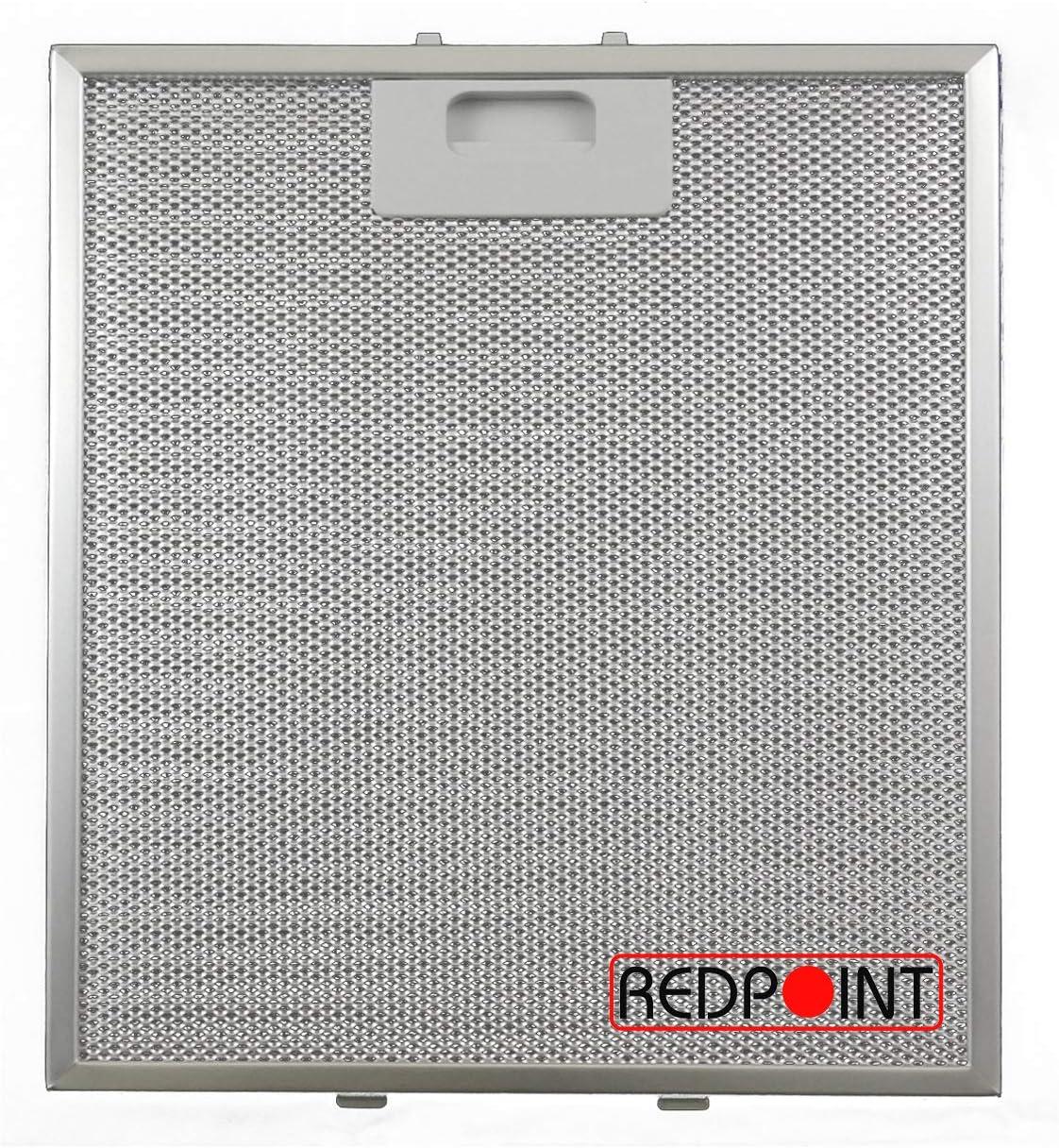 Redpoint® - Filtro de aluminio para campanas 267 x 305 x 9 mm - Adaptabilidad: