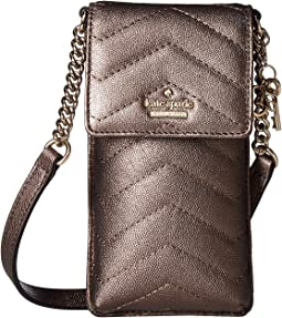 Quilted North/South Phone Crossbody