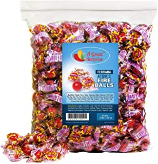 Fireball Candy Bulk - Atomic Fireballs, Individually Wrapped - Red Candy - 3 LB Party Bag, Bulk Candy, Family Size