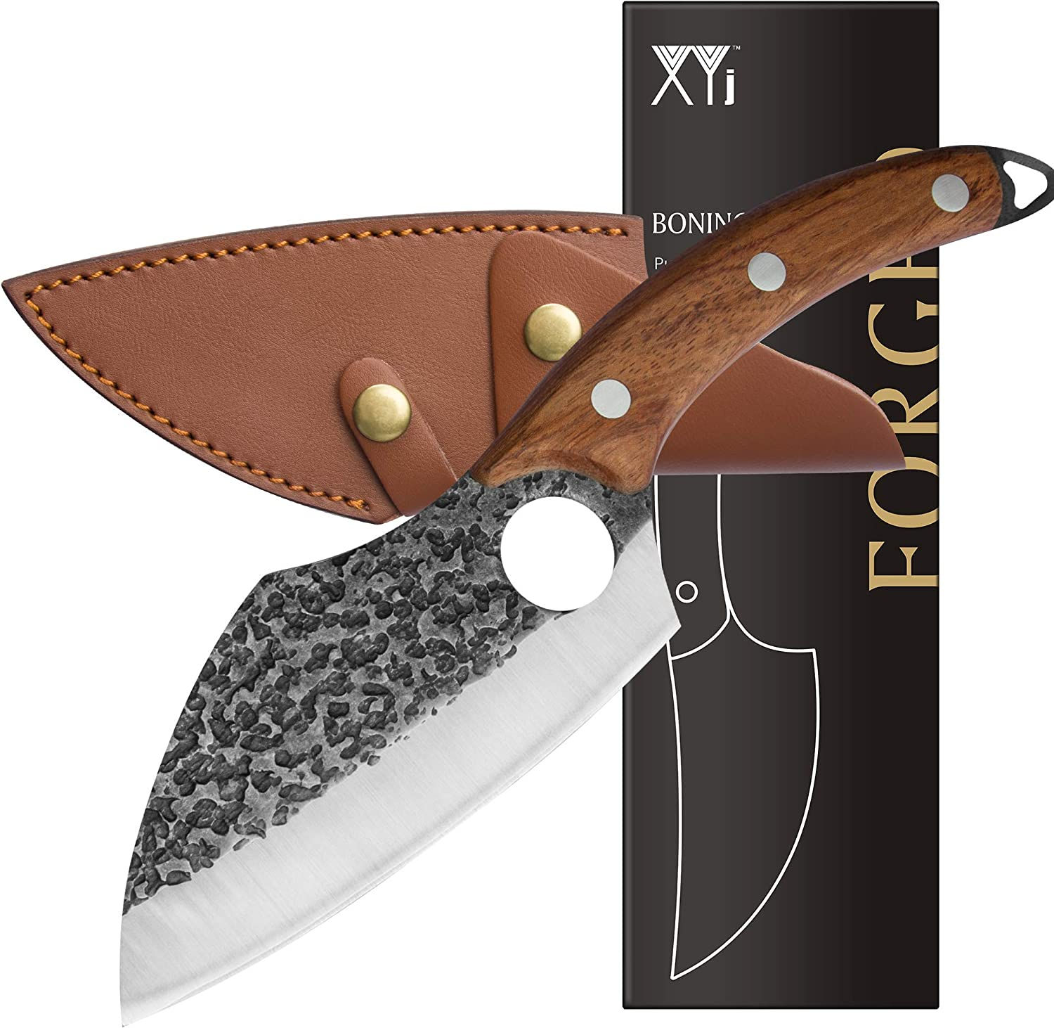 XYJ 6 inch NEW before selling Boning Knife Full Carving Tang Handmade Max 70% OFF Forging