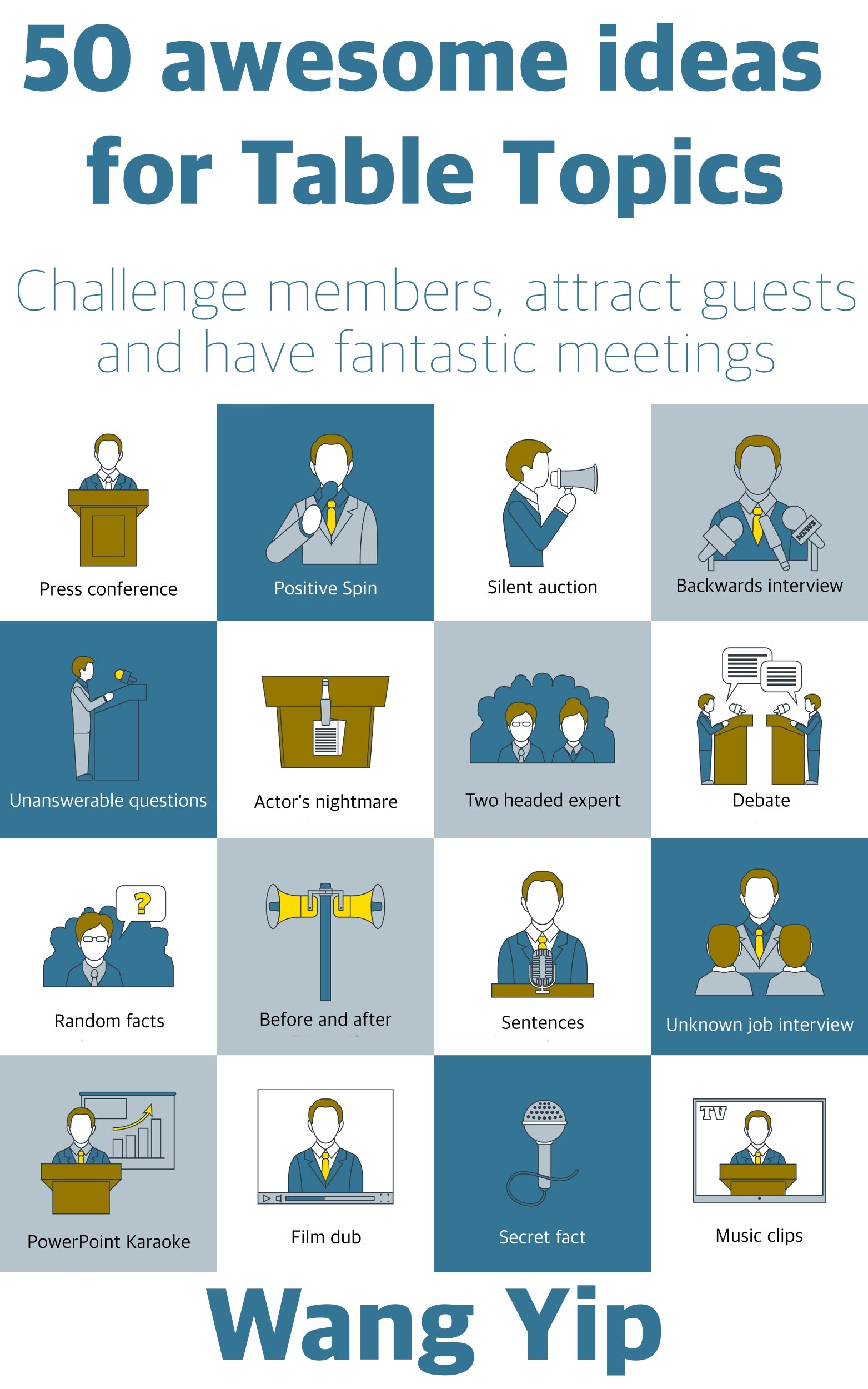 50 awesome ideas for table topics: Challenge members, attract guests and have fantastic meetings