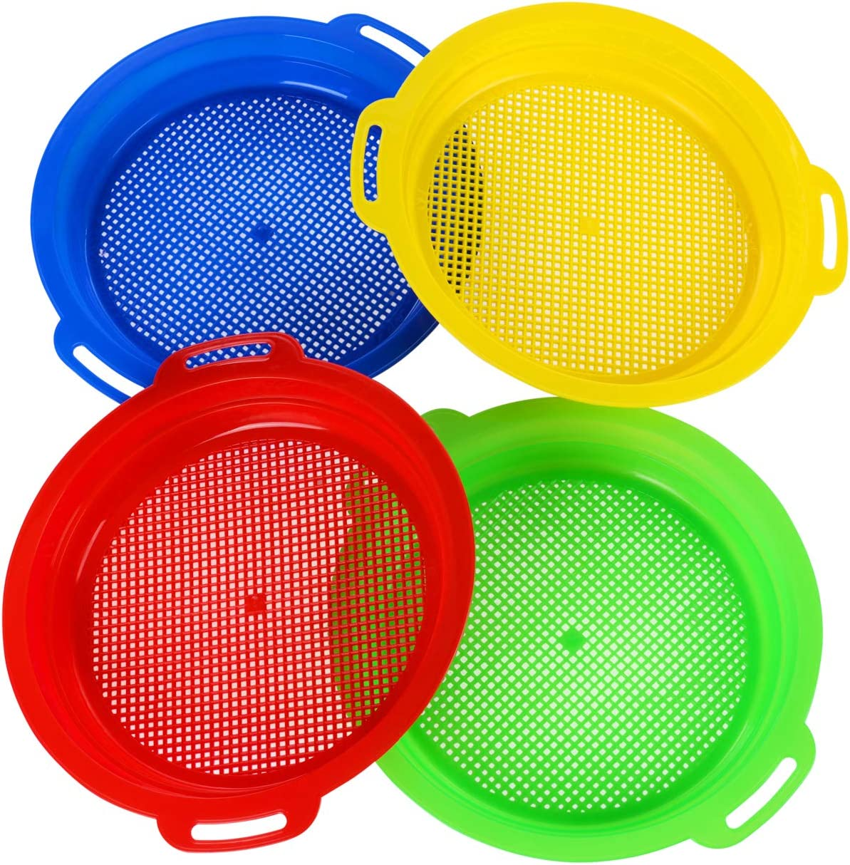 HONGDE Sand Sieves for OFFicial Toys Yellow Fashionable Red Green Blue Com