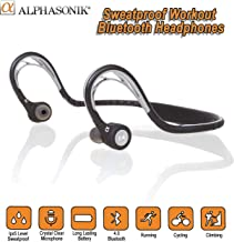 Alphasonik ASE300BT Bluetooth Headphones, V4.0 Wireless Sport Headphones, Sweatproof..