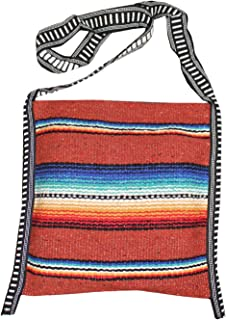 Mexican Style Falsa Blanket Tote Bag Messenger (Rust)