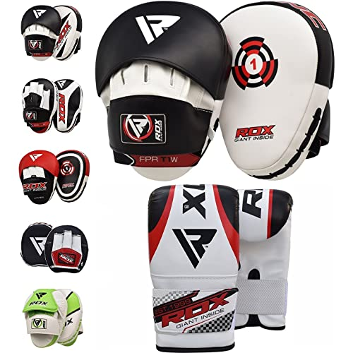 ed8ed49d1daf RDX Boxing Pads Focus Punch Mitts MMA Training Punching Hook   Jab Strike  Pads Target With