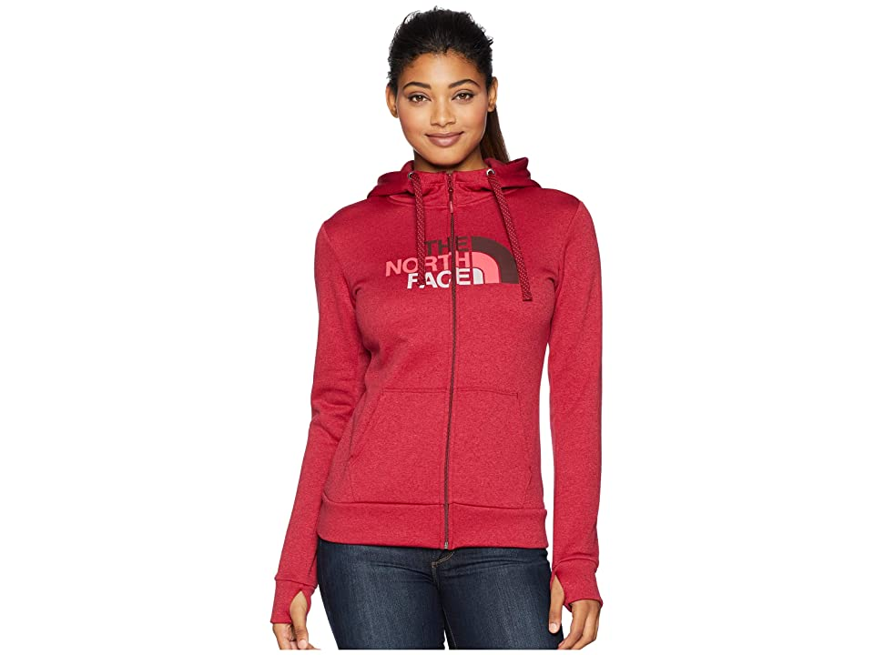 The North Face Fave 1/2 Dome Full Zip 2.0 (Rumba Red Heather/Fig Multi) Women