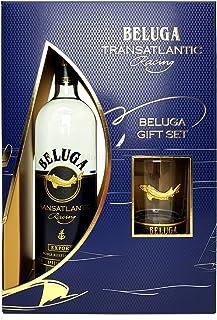 Beluga Geschenkset Box - Beluga Transatlantic Vodka 0,7l 700ml 40% Vol  Tumbler -Enthält Sulfite