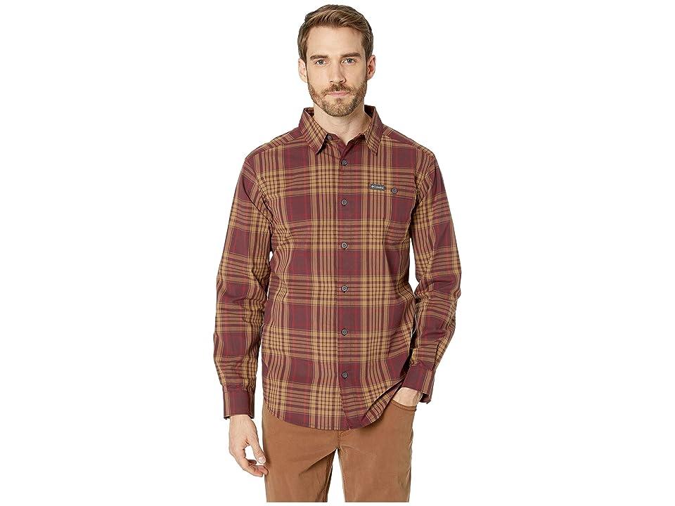 Columbia Boulder Ridgetm Long Sleeve Shirt (Elderberry Large Plaid) Men