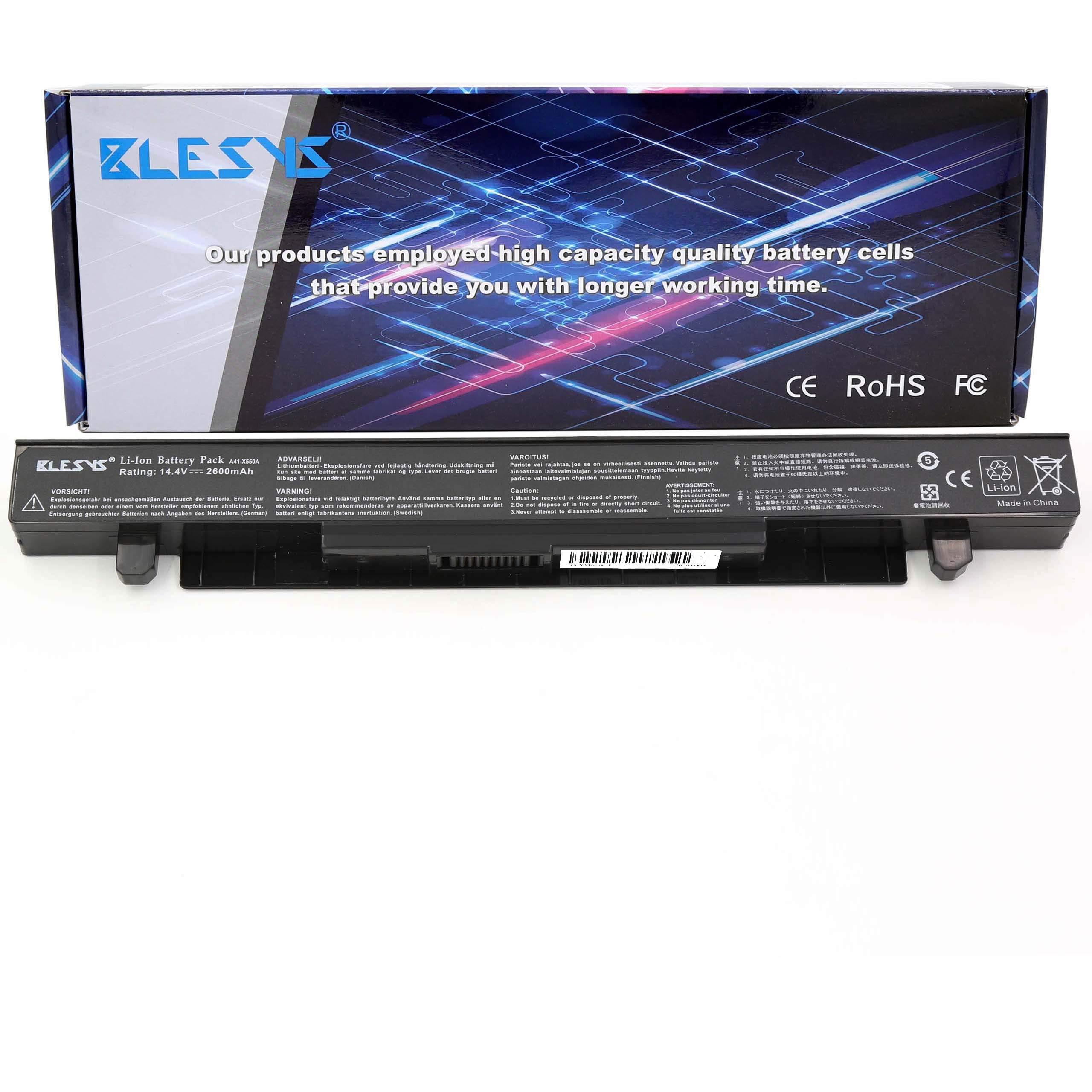 BLESYS 2600mAh A41-X550A Batería para portátil ASUS X450 X450C ...