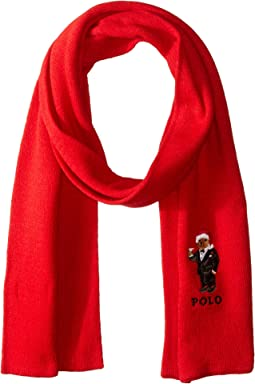 Santa Hat Martini Bear Scarf