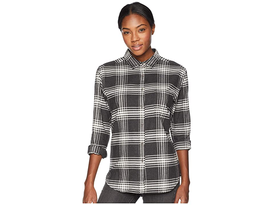The North Face Long Sleeve Boyfriend Shirt (Vintage White Large Tartan Plaid) Women