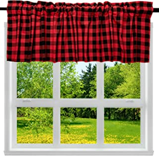 great GIFT Curtain panel white red flowers green leaves black birds Modern Decor Cafe curtain Kitchen valance napkins available runner