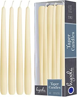 Hyoola 12 Pack Tall Taper Candles - 14 Inch Woolwhite Dripless, Unscented Dinner Candle - Paraffin Wax with Cotton Wicks -...
