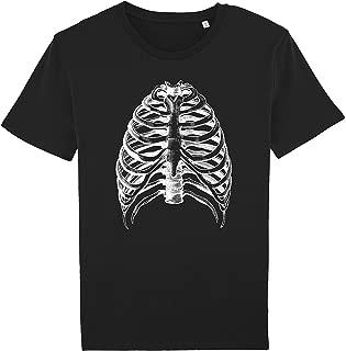 Halloween shirt, Ribs t-shirt, Costume Fancy Skeleton Bones tshirts Organic