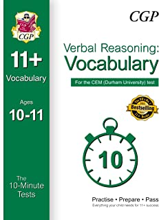 10-Minute Tests for 11+ Verbal Reasoning: Vocabulary Ages 10-11 - CEM Test