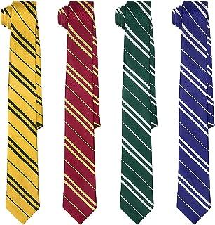 Cosplay Ties for Wizard School Harry Halloween Costume Neck Tie (Set of 4)