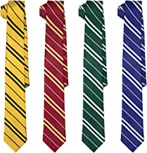 HDE Cosplay Ties for Wizard School Harry Halloween Costume Neck Tie (Set of 4)
