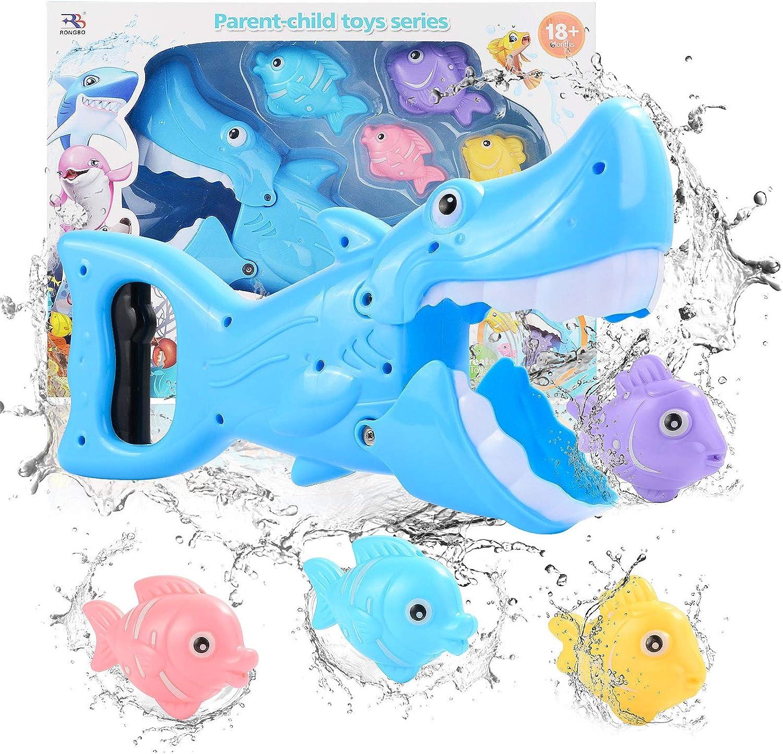 FORMIZON Juguetes Bañera, Juguetes de baño de Peces, 4 Peces Pequeños Marinos Juguetes de Baño Bebe, Juegos de Agua para Niños Niñas (Cuatro Peces)